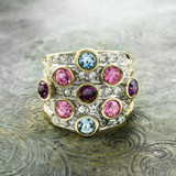 vintage-pave-multicolored-crystals-clear-swarovski-crystals-ring-yellow-gold-plated