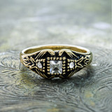 vintage-clear-swarovski-crystals-antique-yellow-gold-plated-ring