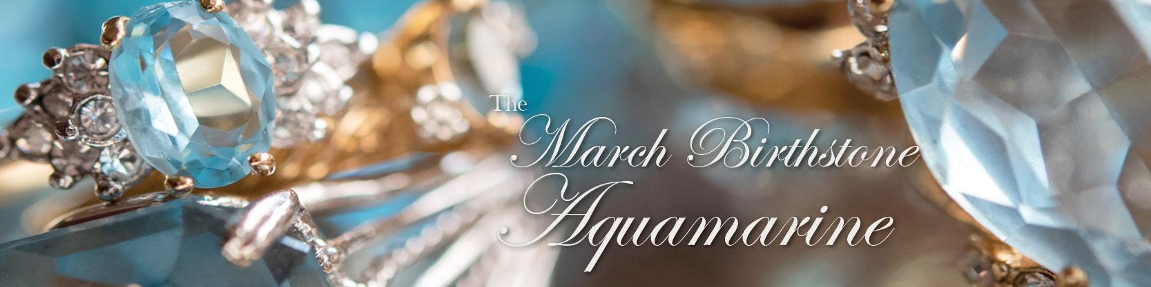 March birthstone vintage aquamarine ring - cubic zirconia - clear Swarovski crystals