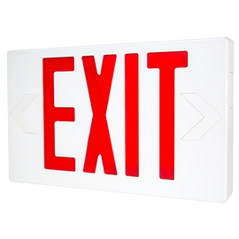 LED Exit w/Battery Backup Red Letters 120/277V - LTEL002R