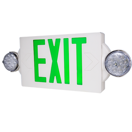Green/Combo EXIT/Emergency Universal Mount LED Thermoplastic Unit - LTEL004G