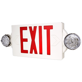 Red/Combo EXIT/Emergency Universal Mount LED Thermoplastic Unit - LTEL004R