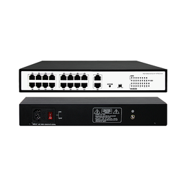 16 Port 10/100Mbps PoE Switch+2 Gigabit Uplink Ports - POE-SW1602E