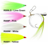 Tide Rite R559 Wide Gap Hook Bucktail Spinner Fluke Rig - 050209032982