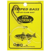 Finstrike Striped Bass Hi-Lo Clam Rig - 749222003429