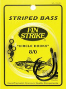 FinStrike Snelled Inline Non-Offset NS Circle Hook w/ Swivel - 749222003580