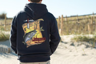 Fish Heads Olde Barney Striper Hooded Pullover - 410641941028