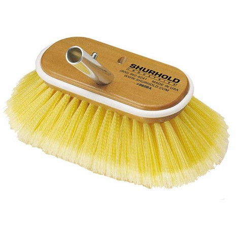 Shurhold SHUR-LOK Deck Brush Head 960 Soft Yellow Poly - 703485209608