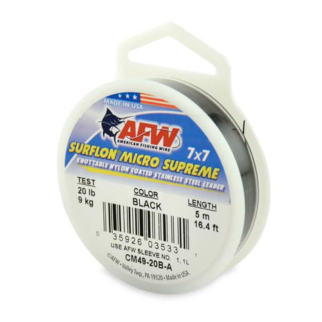 AFW Surflon Micro Supreme Nylon Coated 7x7 SS Wire Leader - 035926040366