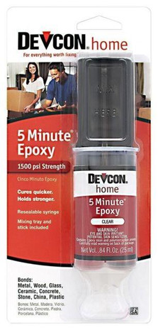 Devcon High Strength 5 Minute Epoxy - 078143208454