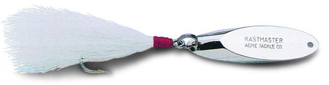 "Acme Kastmaster Lure ""J""  Hook W/ White Bucktail - 048515043211"
