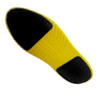 Velcro pads on bottom of shoe covers hold soles securely in place. Pads are sewn on so they will not come off.