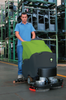This automatic scrubber makes quick work of warehouse floors!