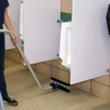 Where traditional methods of cleaning like mopping just push dirt and grime around, the CR2 breaks loose dirt and grime from porous surfaces and hard to reach areas around urinals so it can be effectively removed with the squeegee and vacuum system.
