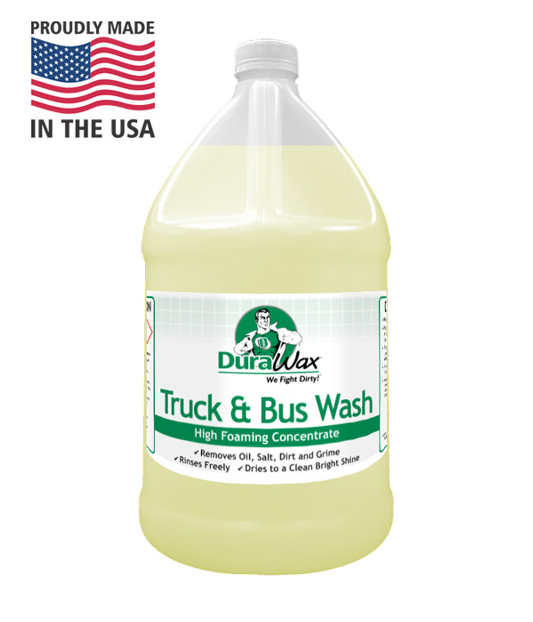 Truck and Bus Wash is formulated to cut through the dirt and grime that accumulate on vehicles that are on the road a lot, such as fleet buses and trucks.