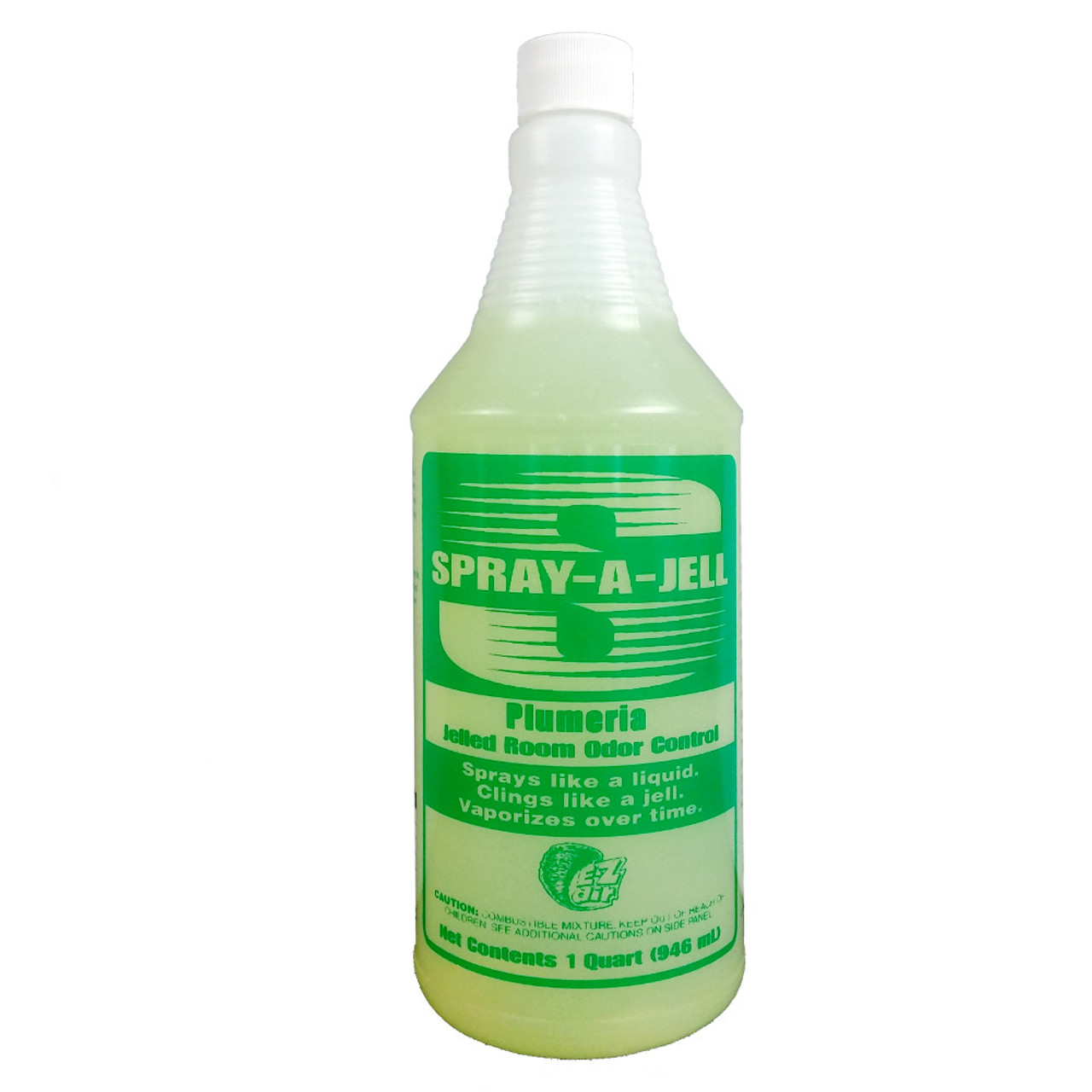 Unlike other deordorizers, Spray-A-Jell stays where you spray it.