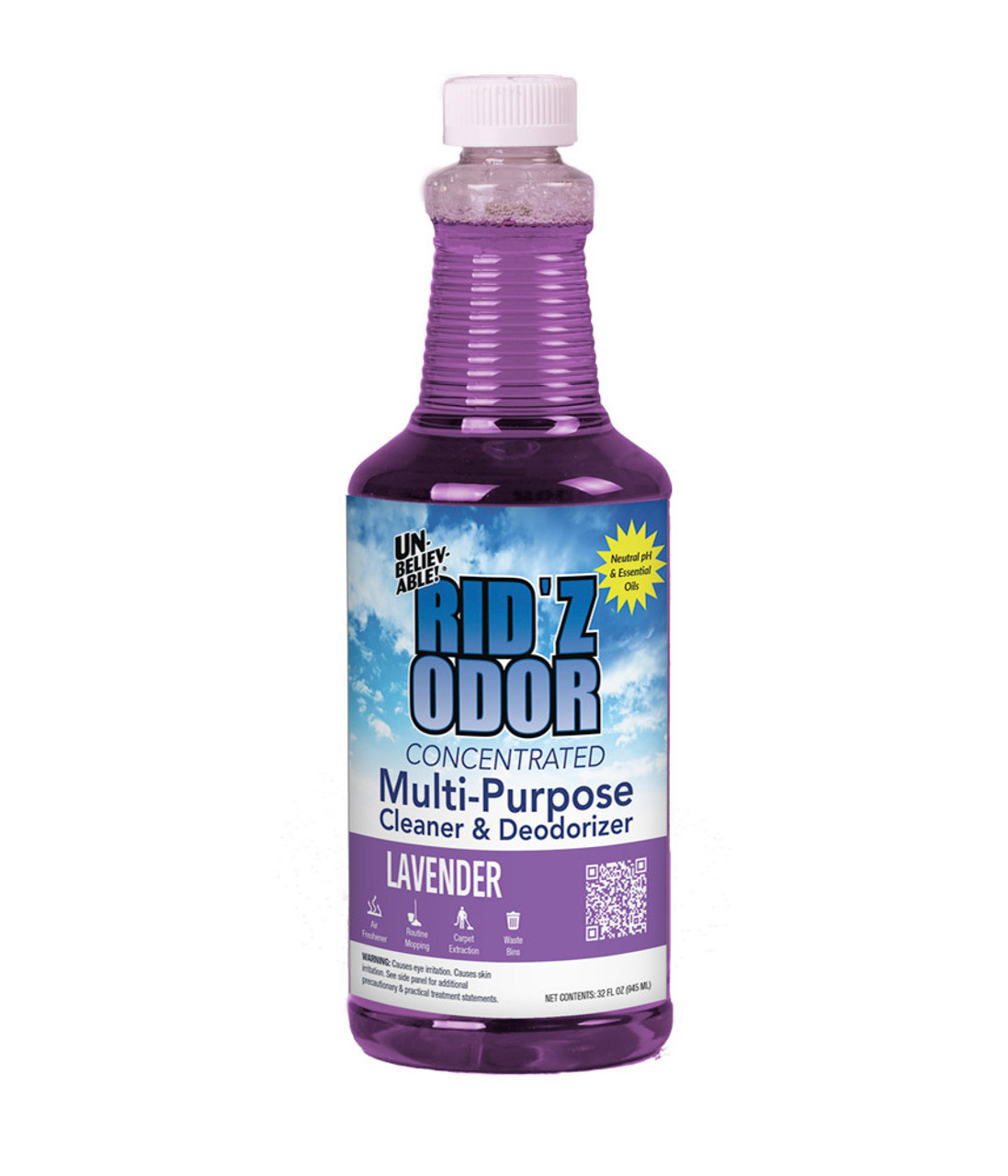 Rid'Z Deodorant and Cleaner encapsulates odor molecules to eliminate odors, not cover them up!