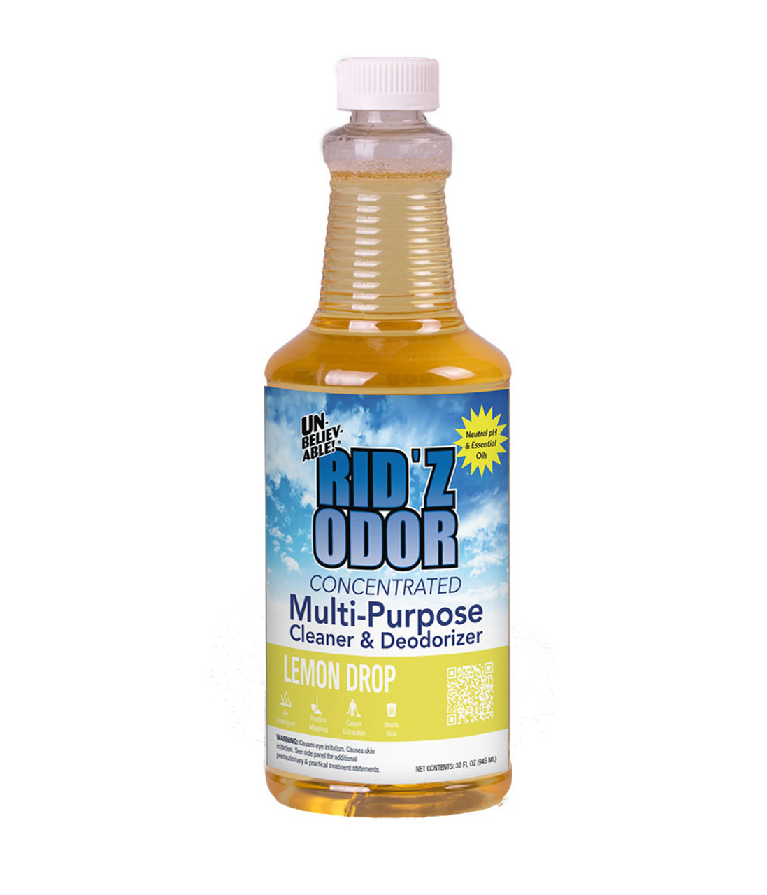 Counteracts and encapsulates odors.