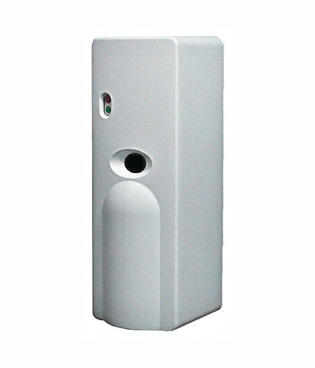 Sprayon Spray Scents 1000 Metered Air Freshener Dispenser automatically sprays at intervals of 15 minutes.