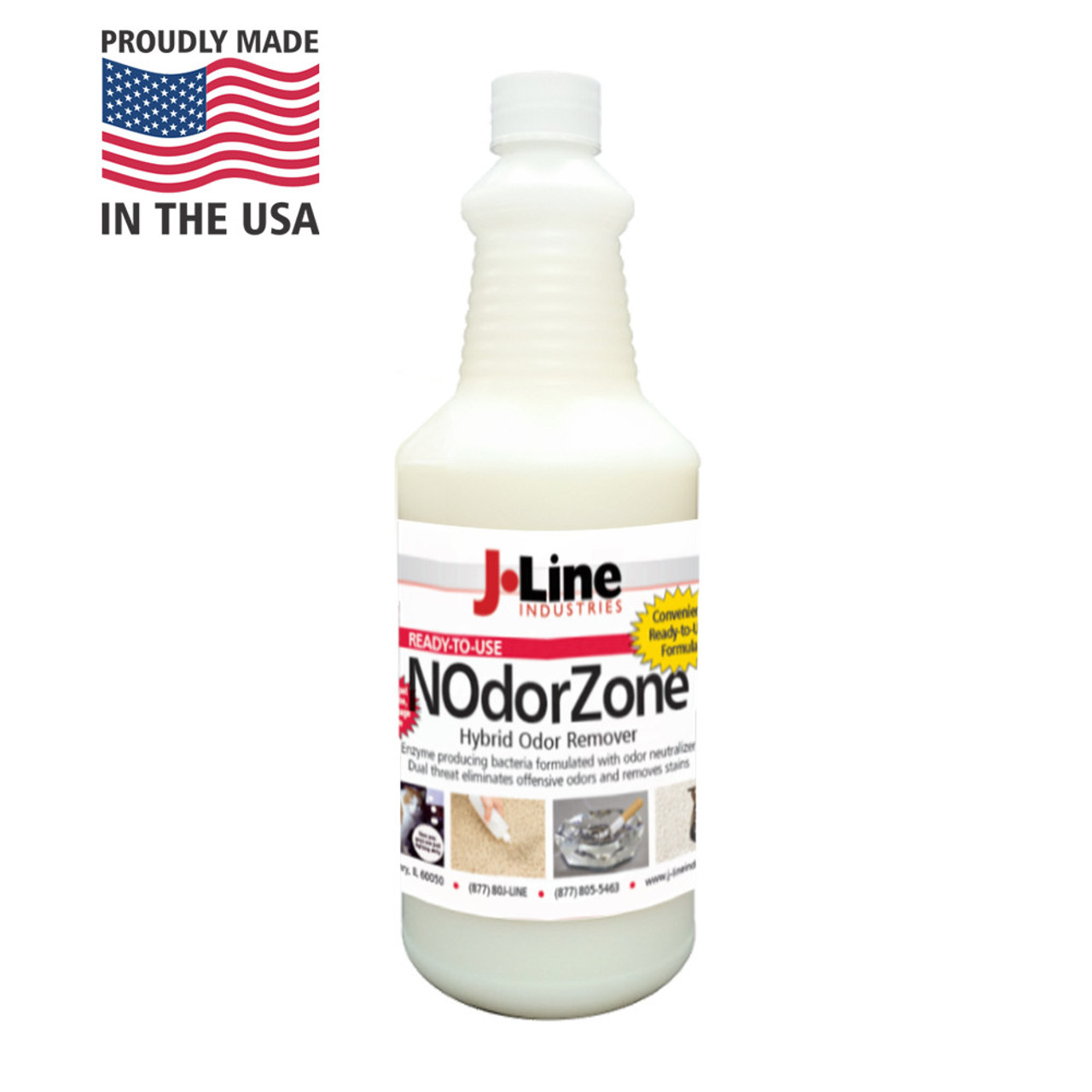 NOdorZone Odor Remover doesn't cover up odors - It eliminates them!