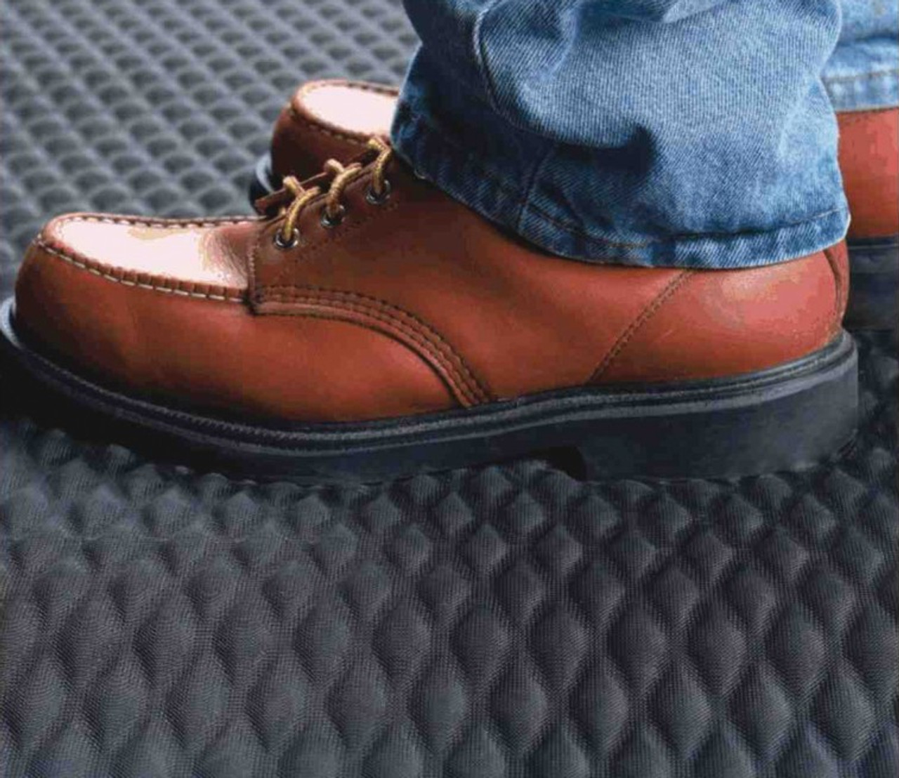 Shoes Turn Freely on Anti-Slip Diamond Pattern.