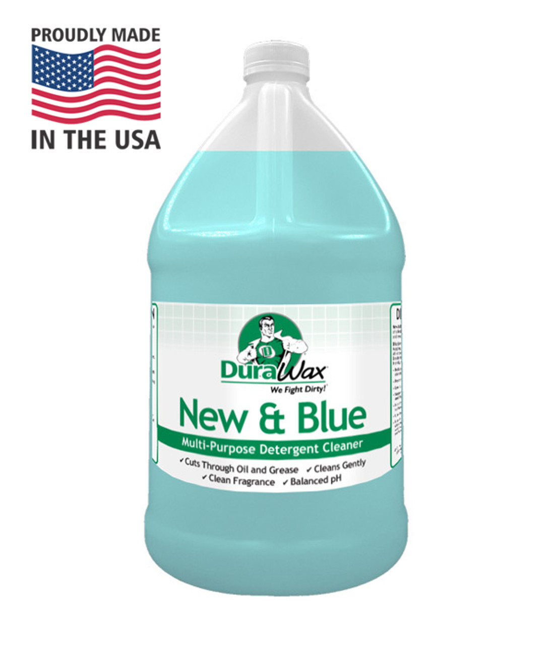 New and Blue is a ph neutral all-purpose cleaner that is great for deep cleaning surfaces, neutralizing after floors after stripping and and is safe for many floor types.