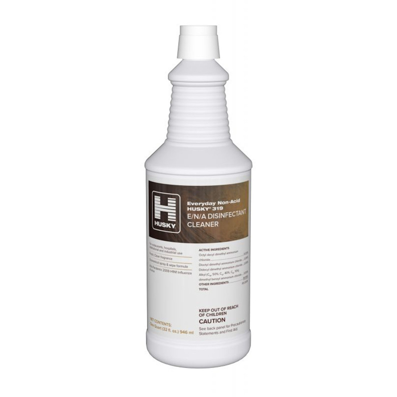 Husky 319 makes restroom surfaces safer by killing harmful bacteria and viruses. Cleans and disinfects all hard non-porous surfaces in restrooms.
