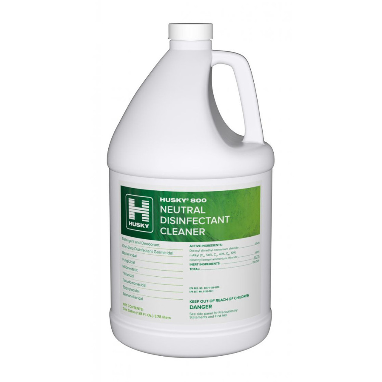 Husky 800 N/D Germicidal Cleaner is a neutral disinfectant cleaner perfect for finished non porous surfaces because of its neutral pH.