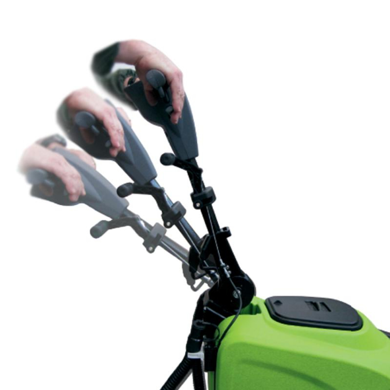 Height adjustable handle for superior comfort when using this autoscrubber.