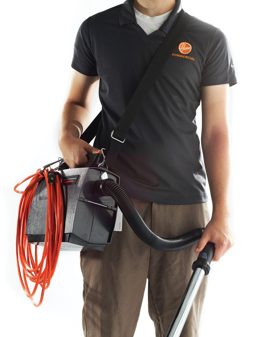The Hoover PortaPower Lightweight Commercial Vacuum is convenient and easy to carry.