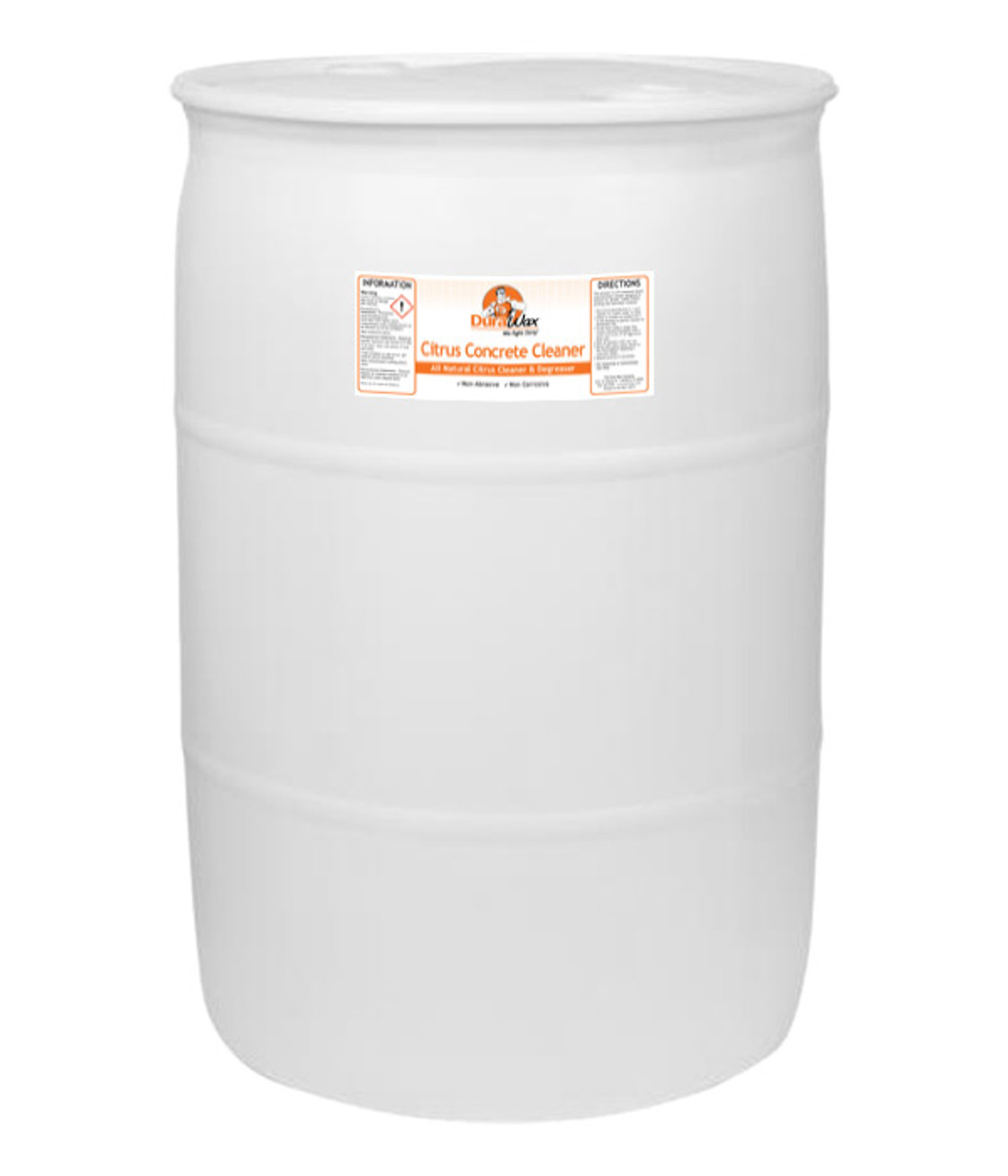 Citrus Concrete Cleaner in 55 Gallon drums for large scale operations.
