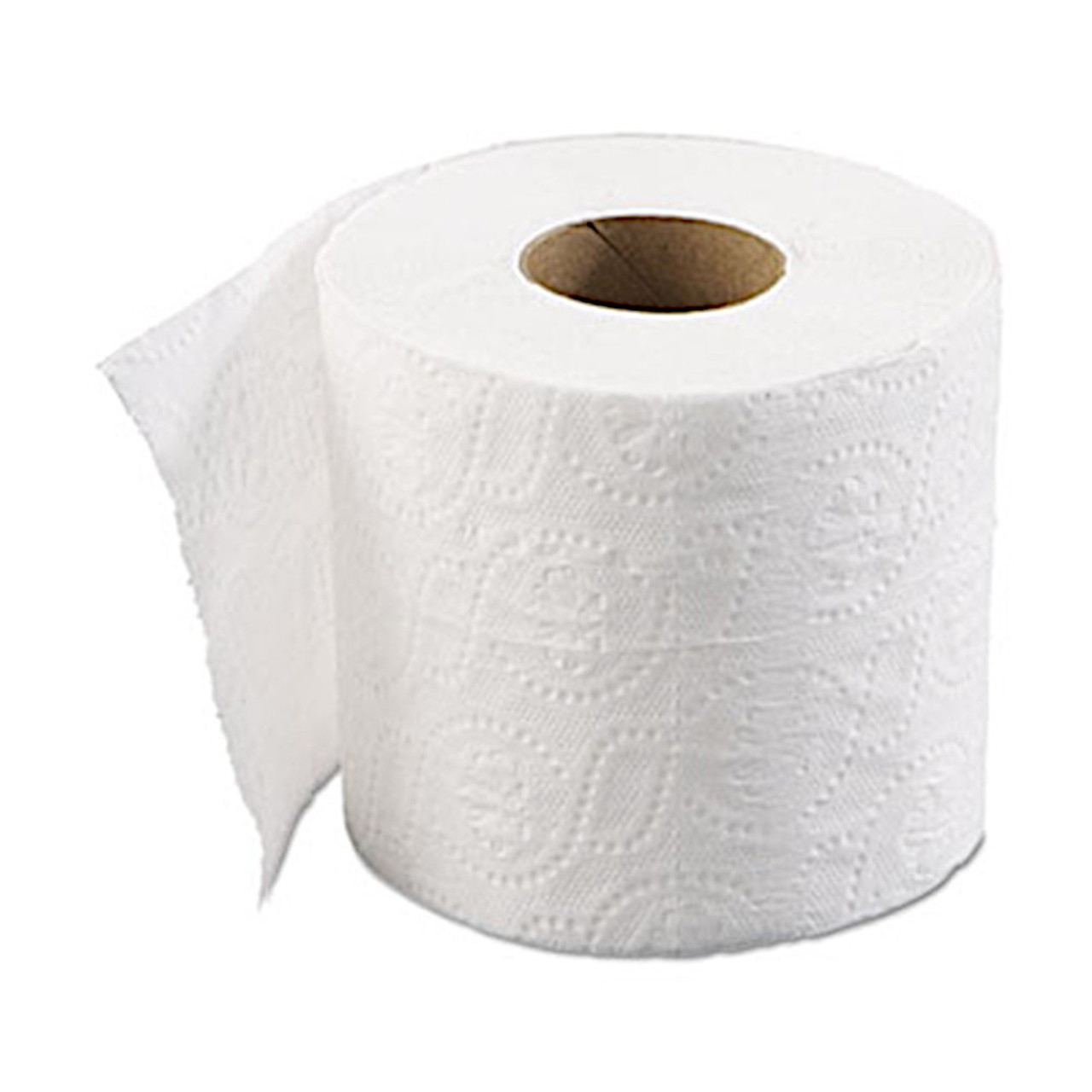 A 2-ply toilet tissue with 500 sheets per roll.