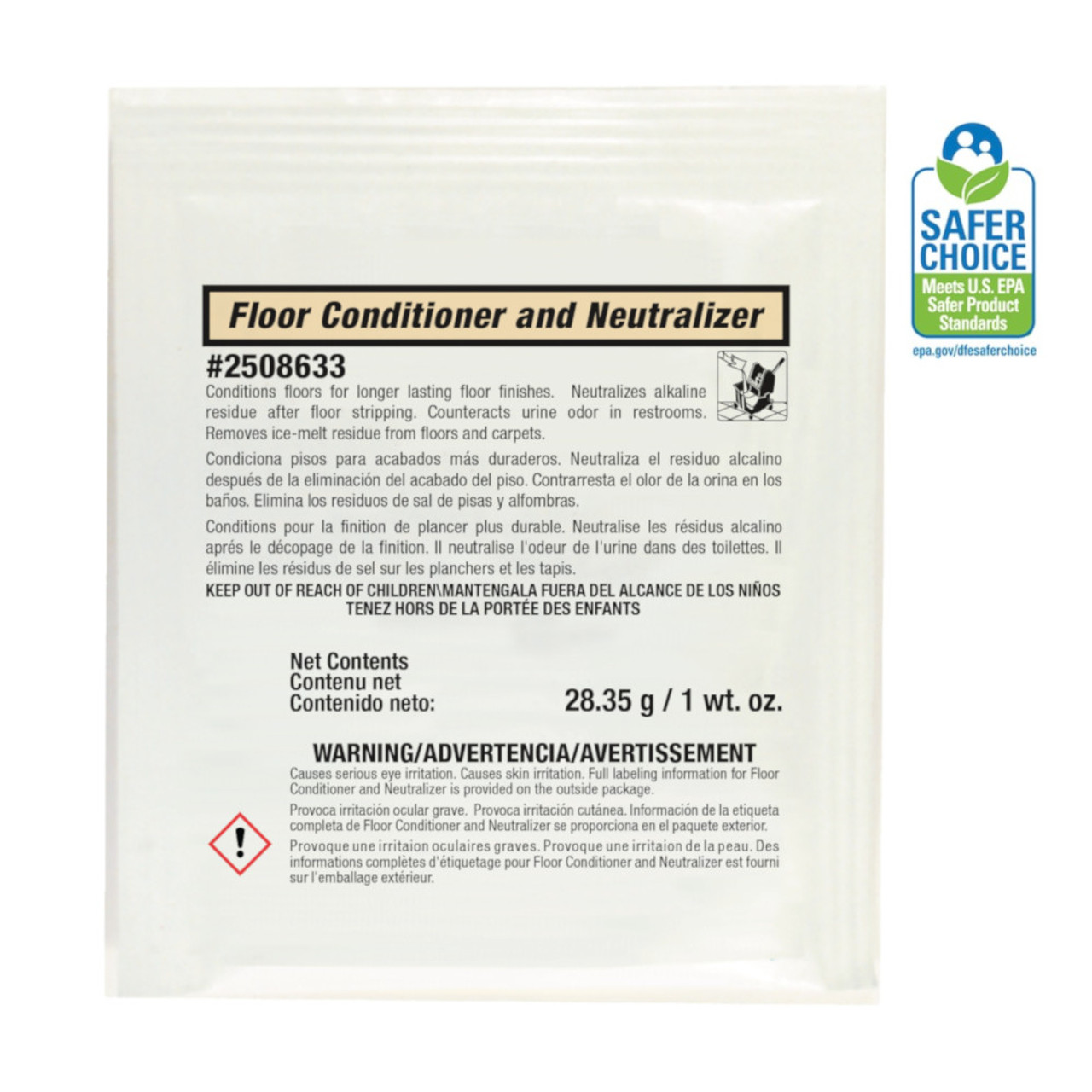 Stearns Floor Conditional and Neutralizer conditions floors after stripping and is great for urine odors in restrooms.