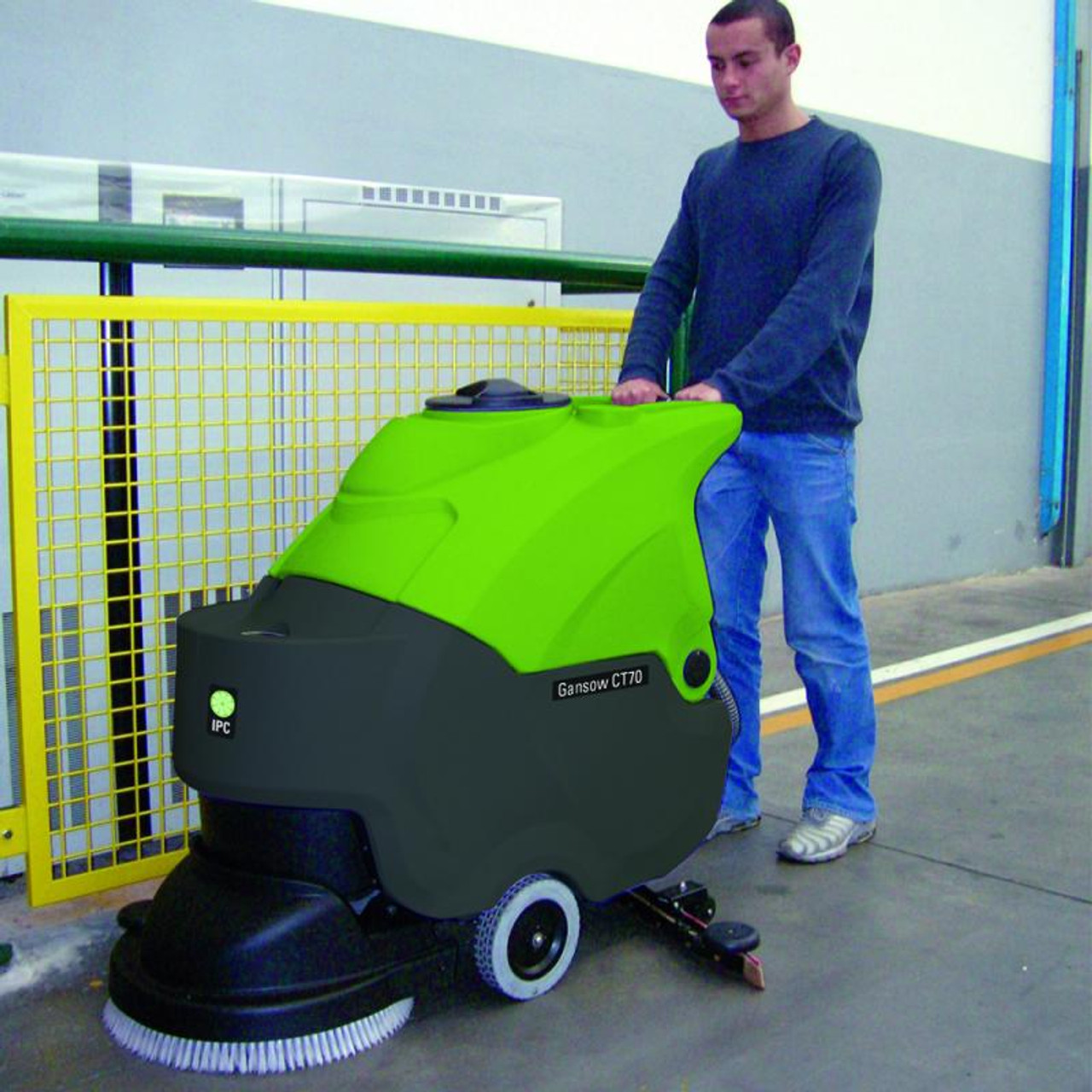 The CT70 Automatic Scrubber also comes in a brush drive version.