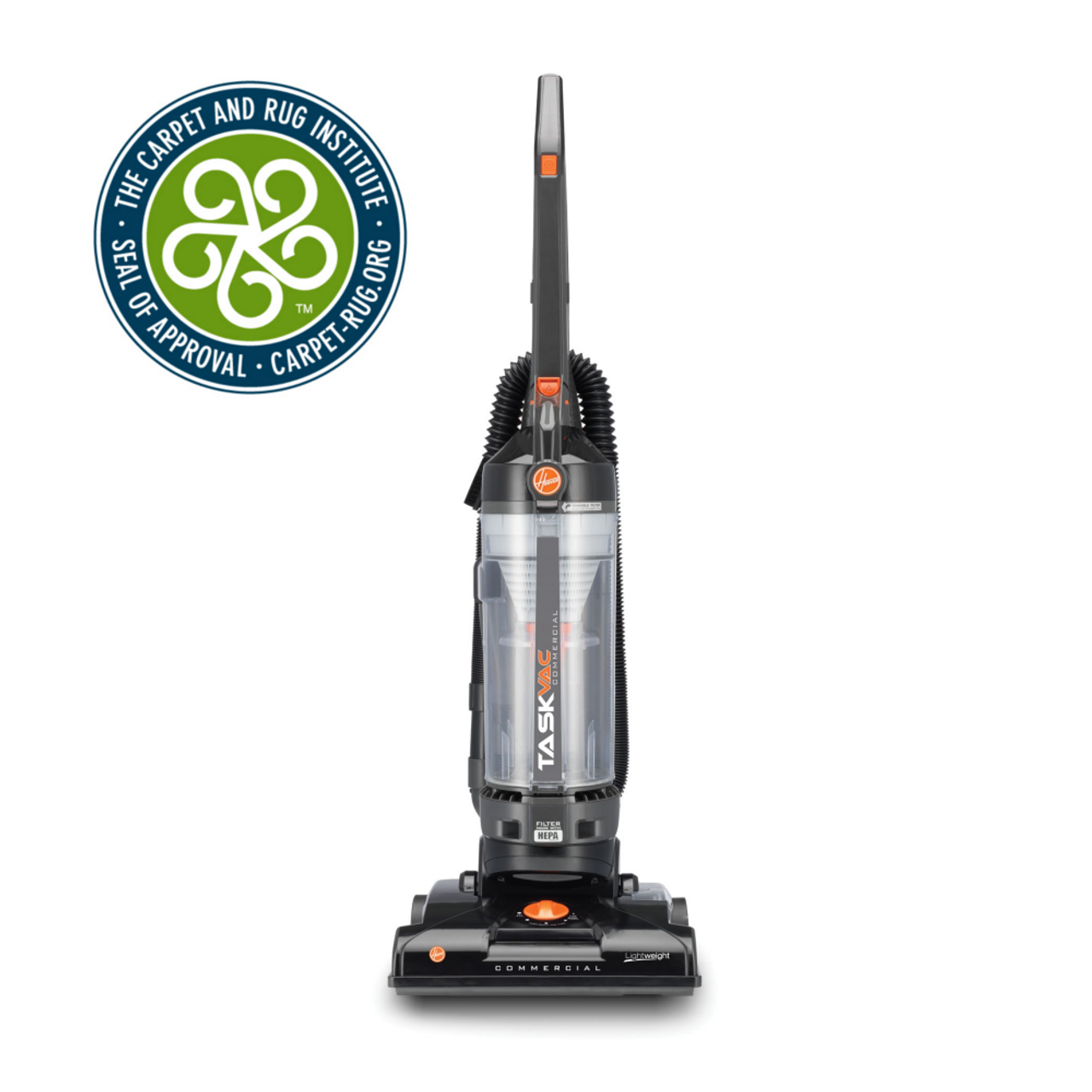 Hoover Commercial CH53010 TaskVac Bagless Lightweight Upright Vacuum 13-Inch