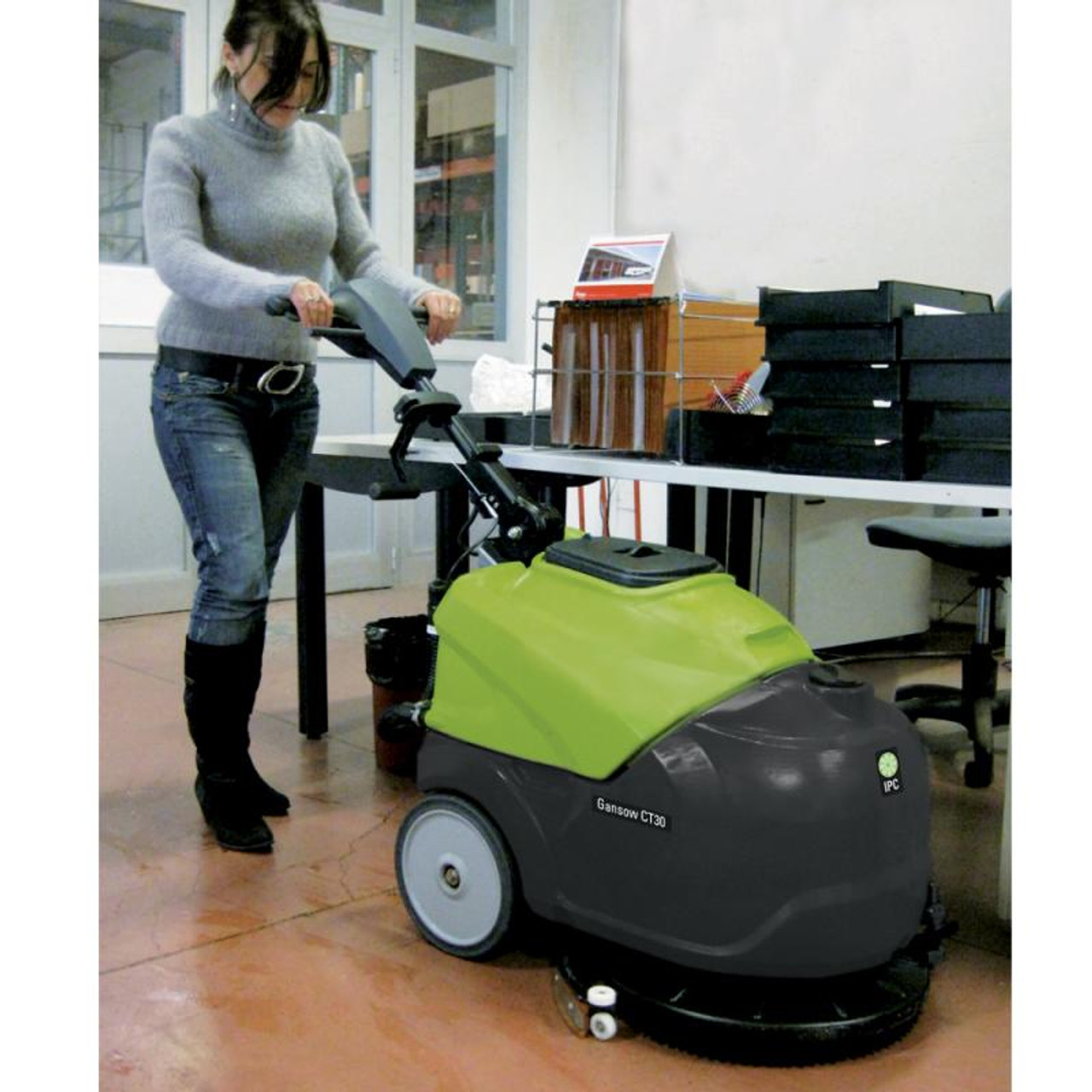 The CT30 autoscrubber is easy enough to handle for office use.
