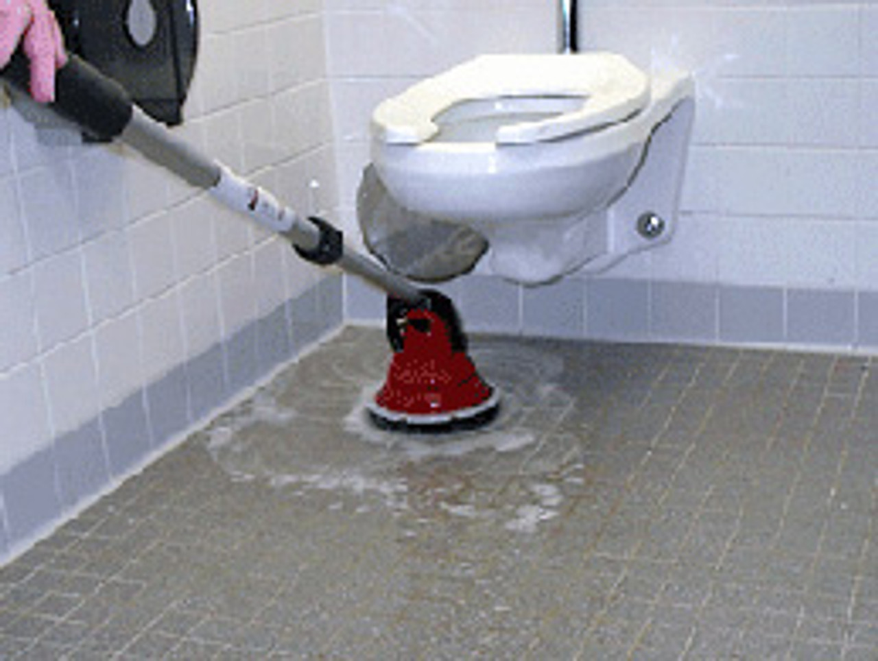 Clean under toilets and other hard to reach places without getting down on your hands and knees.