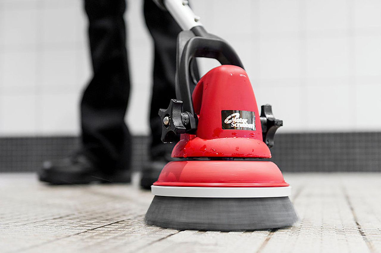 The medium duty brush makes quick work of grout cleaning!
