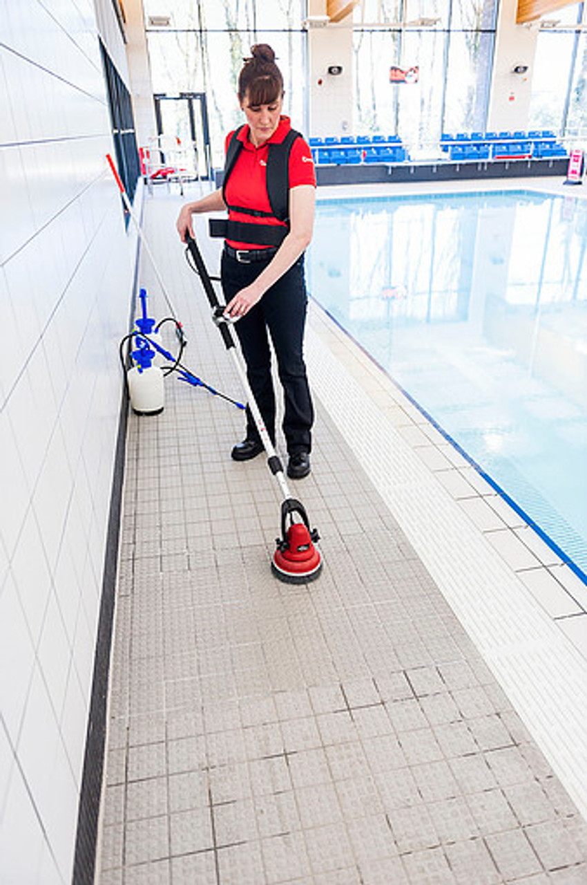 Motor Scrubber is great for cleaning around and in pools!