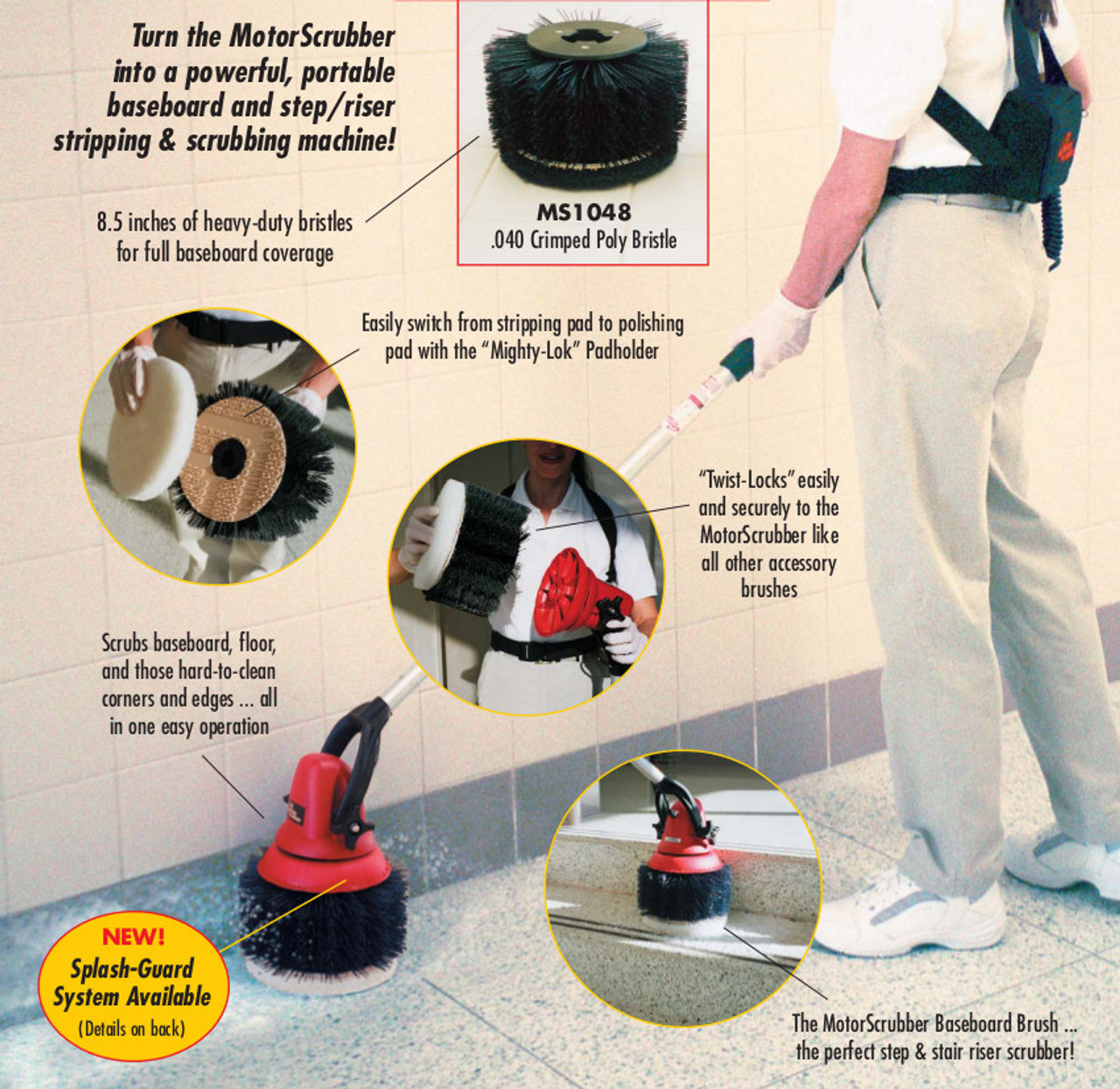 The MotorScrubber Baseboard Brush is the Accessory you can't do without!