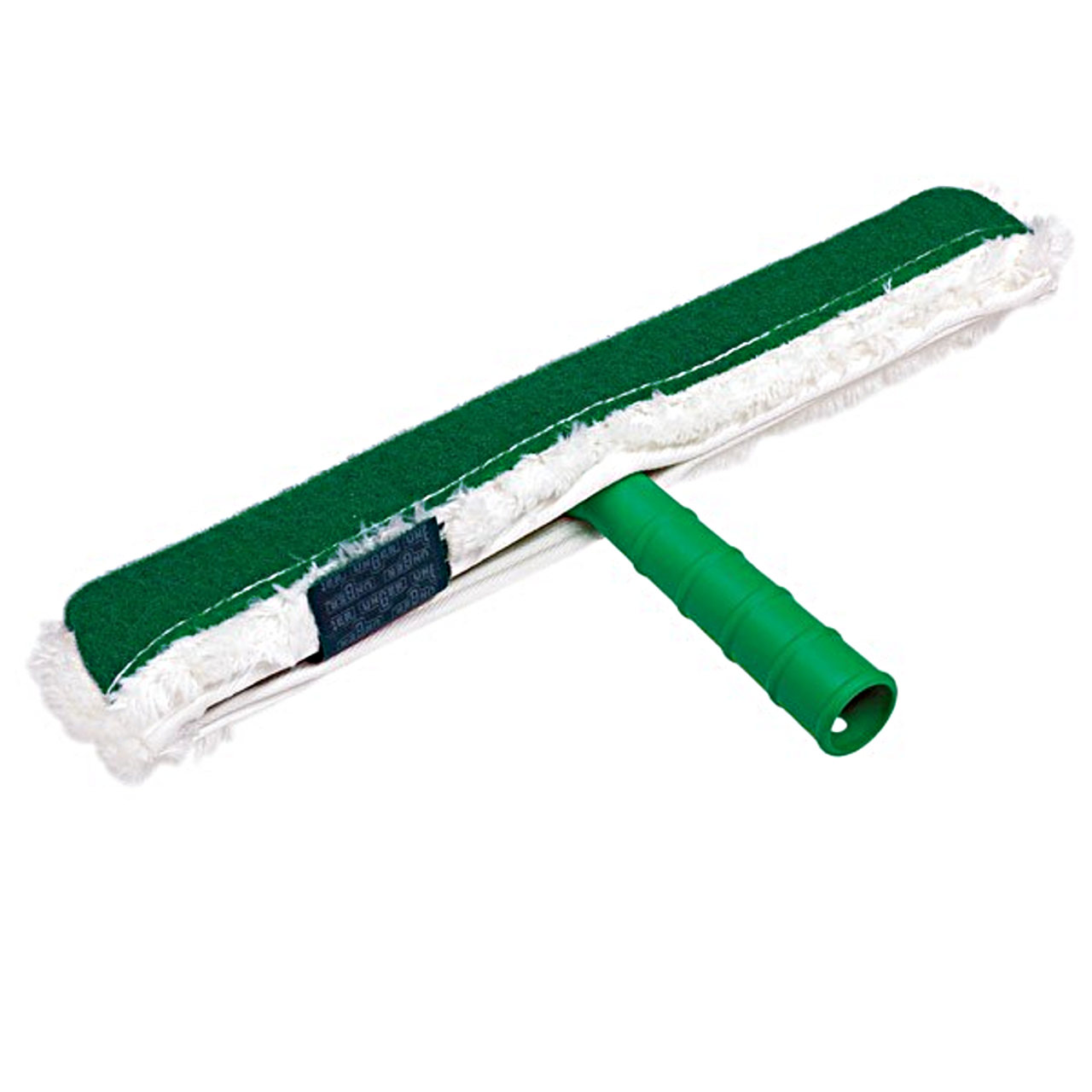 The Unger Pad Strip Washer Complete is a dual window cleaner with blended fabric on one side and scrub pad on the other.
