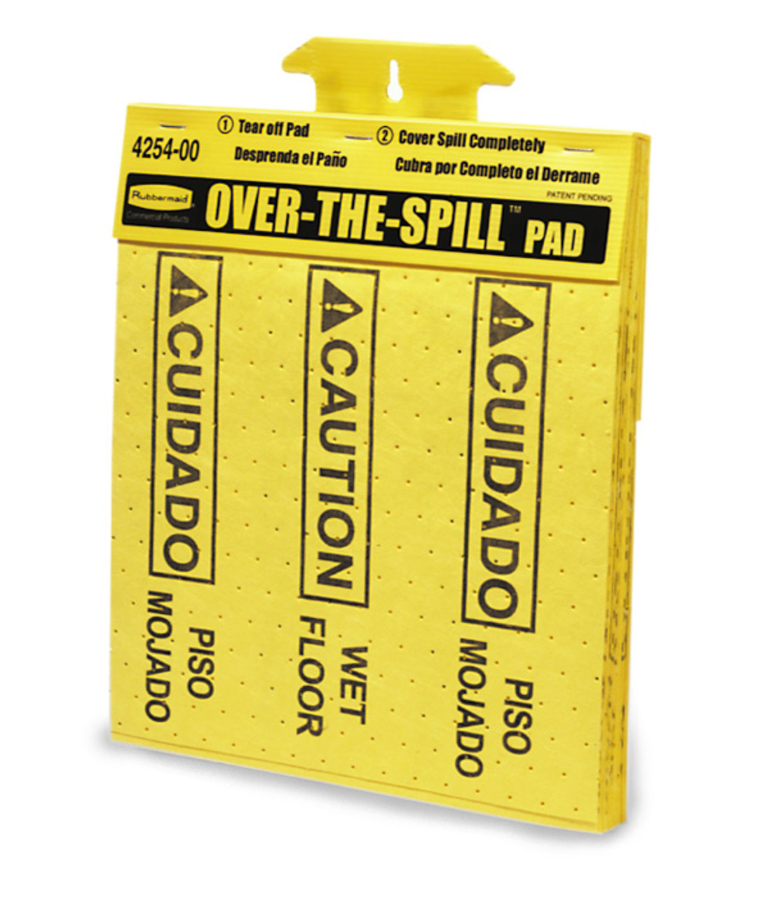 Over The Spill Pads come in a convenient tablet of 12 pads