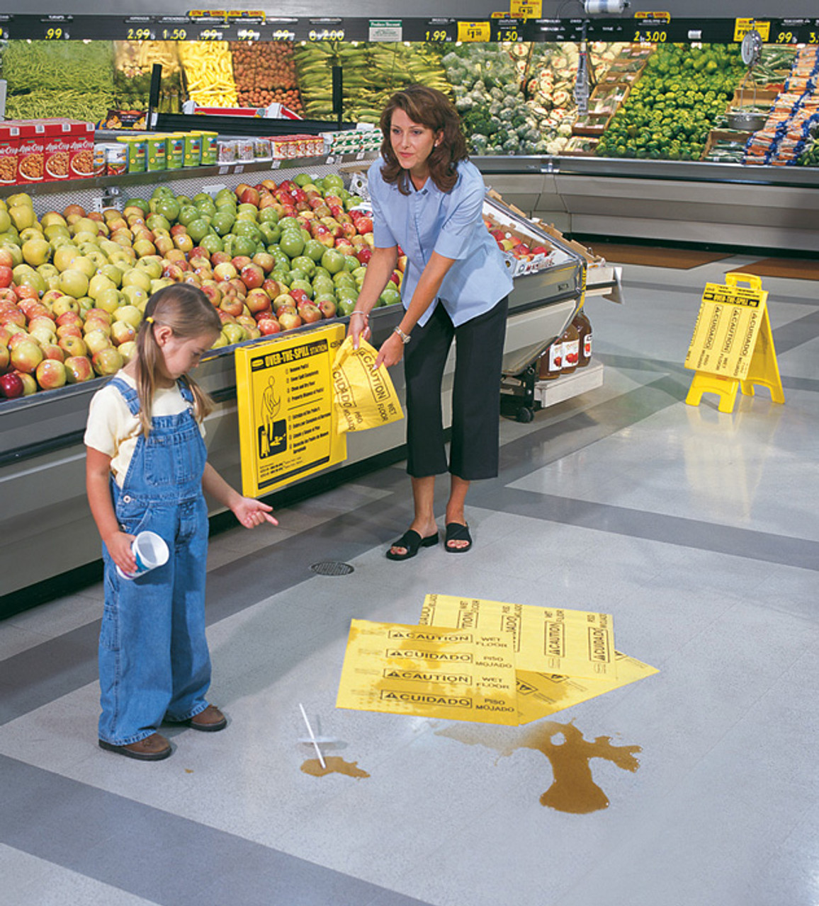 Spill Pads help keep spills from becoming a dangerous situation and liability.