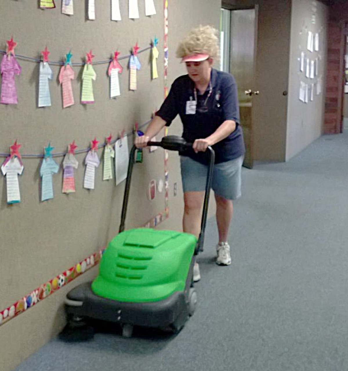 Lightweight and easy to manuever makes the 464 sweeper great for schools.