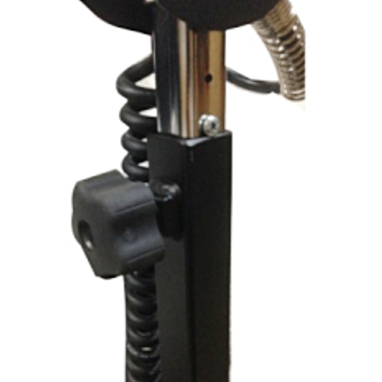 "The Hawk Mighty handle telescopes from 36"" to 48"" to adjust for different height users."