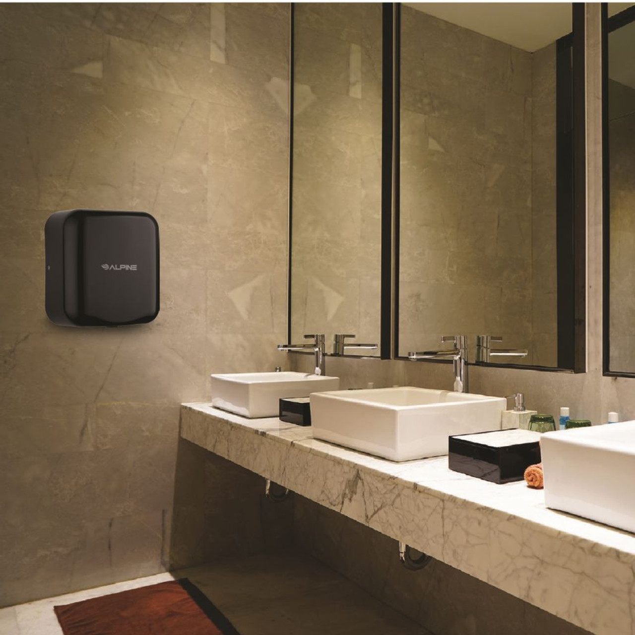 The Hemlock Hand Dryer comes in multiple colors such as black.