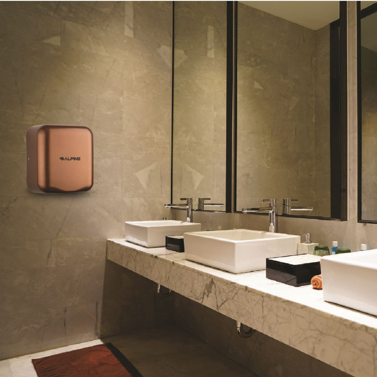 Pick the Coffee Hemlock Hand Dryer to accent your decor.