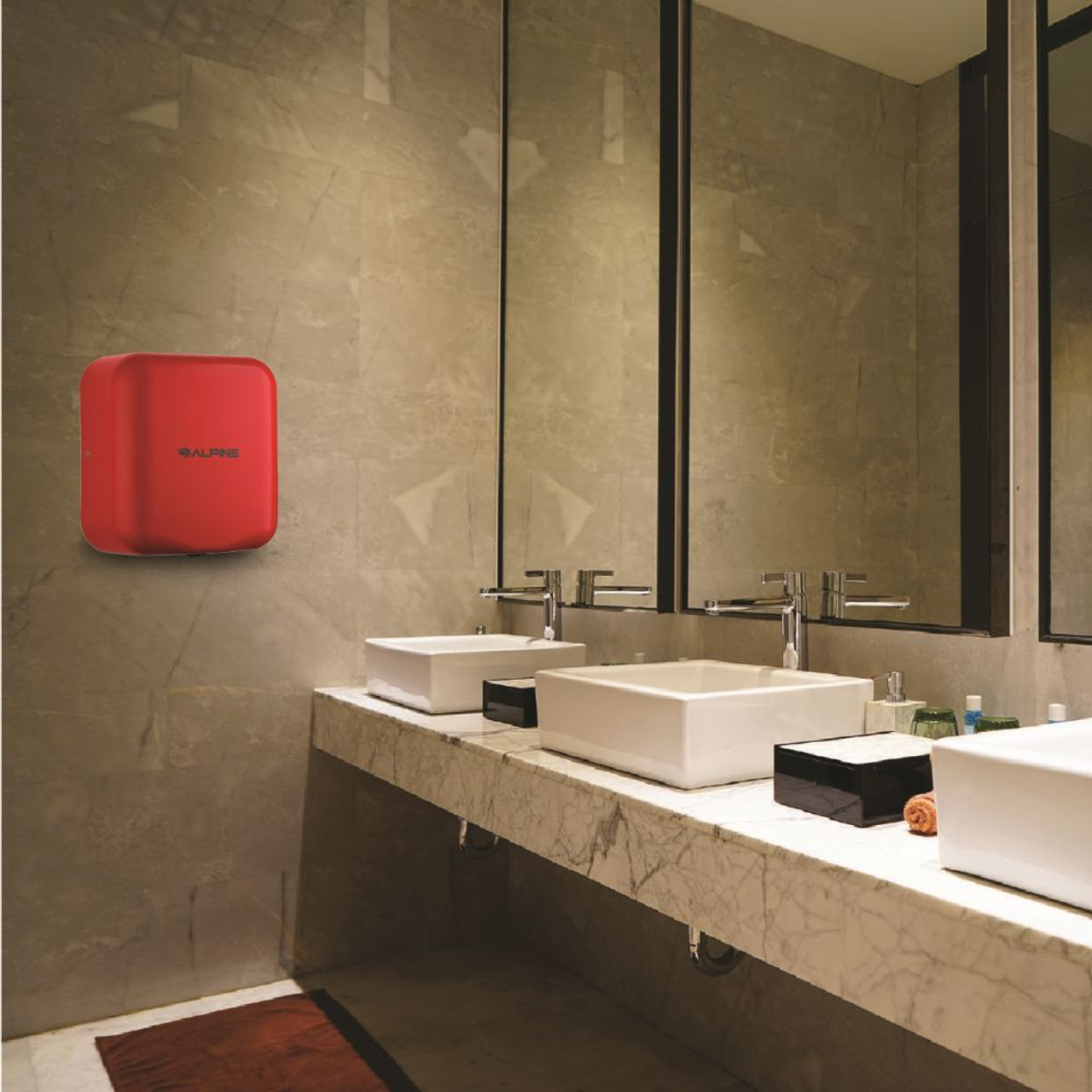 The Hemlock Automatic Hand Dryer comes in multiple colors such as Red.