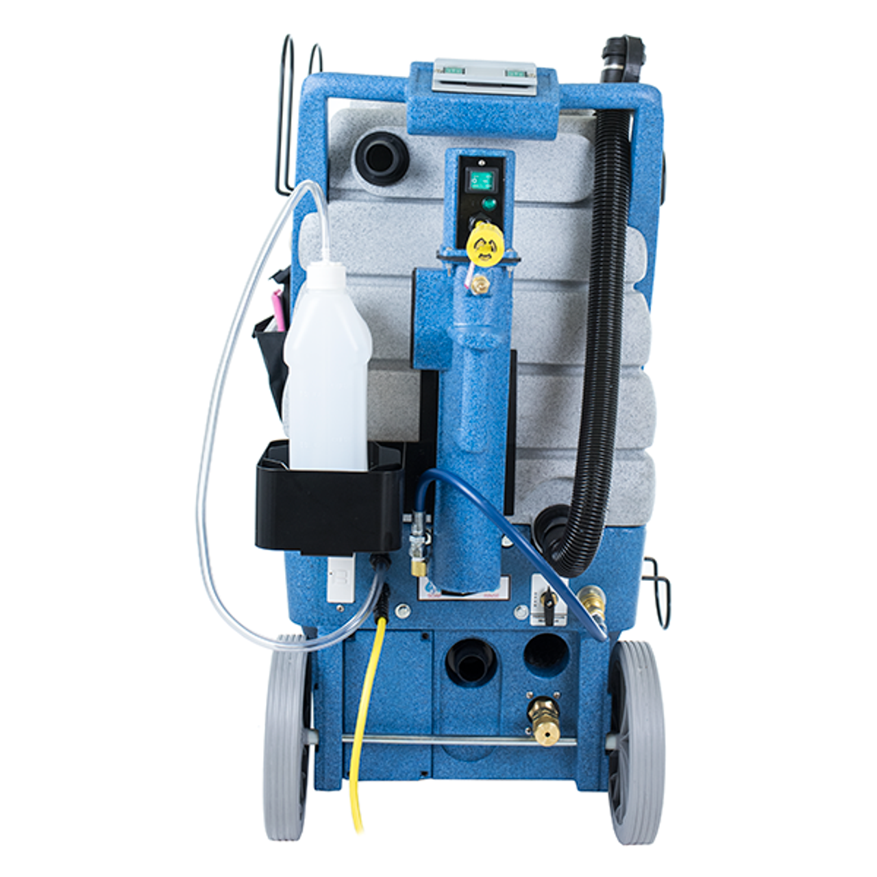 Built-in chemical metering system and onboard GFCI.