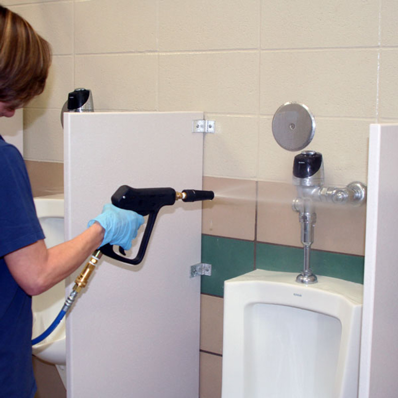 Now you can clean toilets, urinals, and restroom floors without getting your hands dirty.